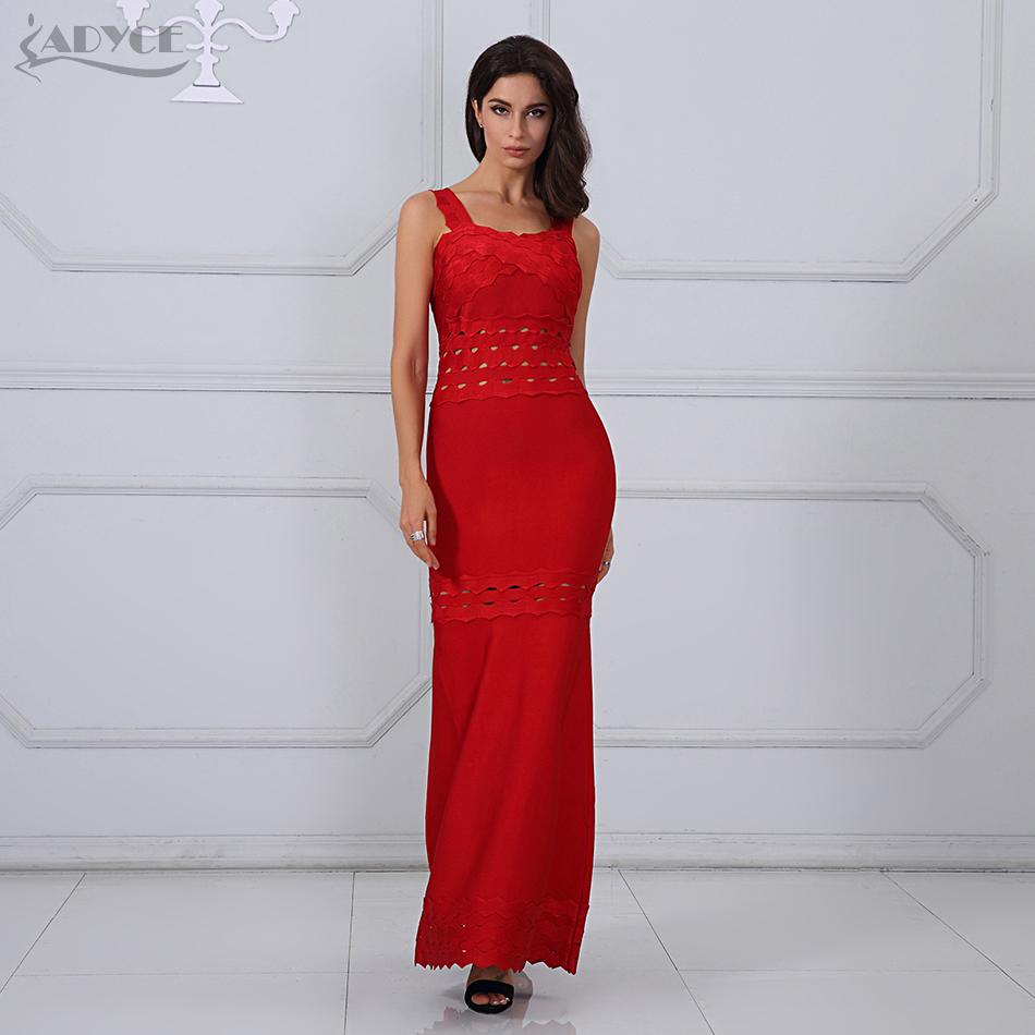 Adyce 2018 New Arrival Summer Maxi Dresses Chic Sexy Red Sleeveless Tank Women Long Bandage Dress Celebrity Party Dress Vestidos
