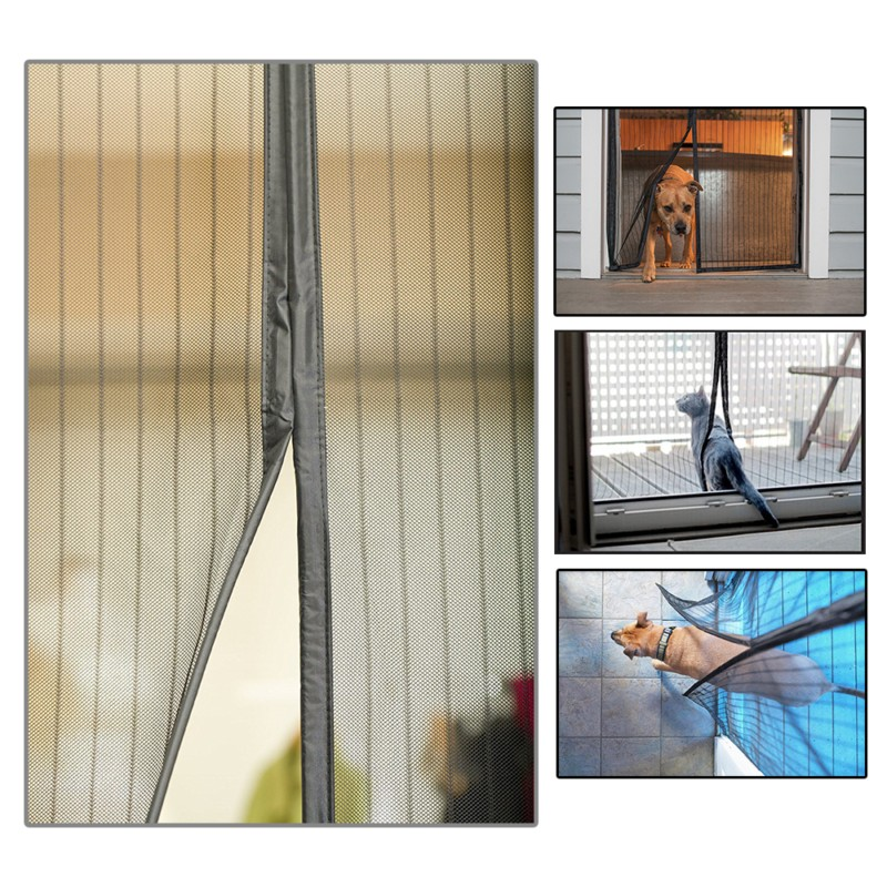 2 Color 210x100cm Summer Door Window Screens Mesh Breathable Curtain Magnetic Screen Anti