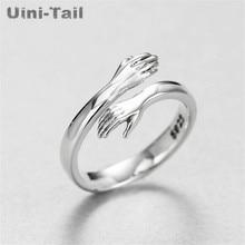 Hug Ring Jewelry 925-Sterling-Silver Uini-Tail Retro Tide-Flow Fashion Love European