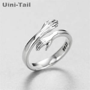 Uini-Tail Горячая новинка 925 ювелирные изделия из стерлингового серебра в европейском и американском стиле кольцо для обнимания в стиле ретро м...