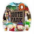 Мода South Park 3D Сублимации печати флис Толстовка Crewneck Плюс Размер одежды На Заказ