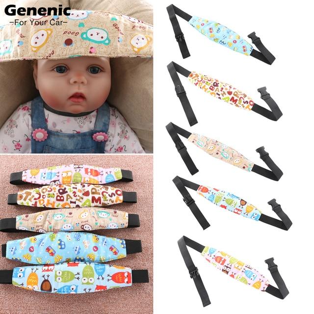 1PC New Adjustable Baby Head Support Stroller Car Seat Fastening Belt Sleep Safety Strap