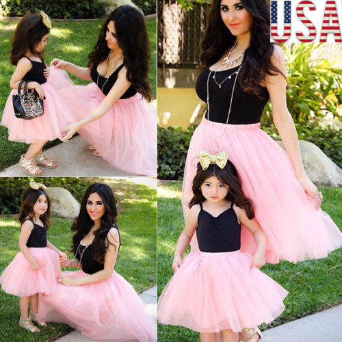 New Summer Mother Daughter Tutu Dress Parent Child Tulle -9635