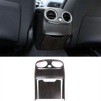 Cubierta de ventilación de aire acondicionado trasero ABS de color madera de roble, embellecedor para Mercedes Benz Clase C W205 Clase C 2015-2018, accesorios para coche 2 uds.