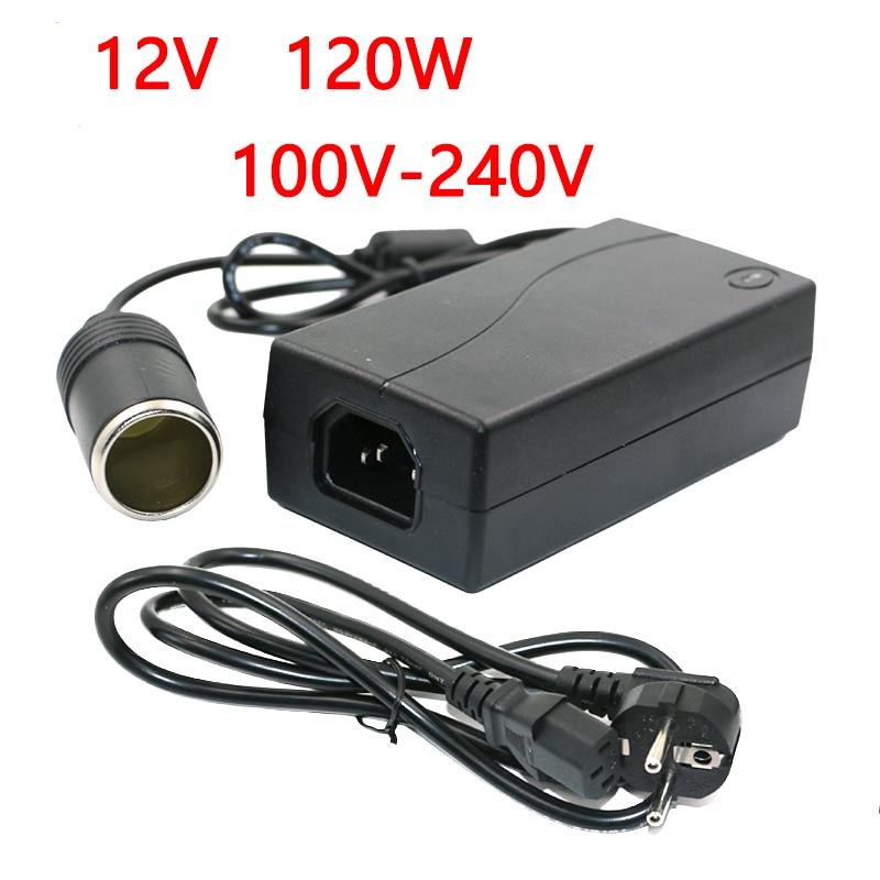 120 W AC 100 V 240 V to DC 12 V car cigarette lighter AC DC