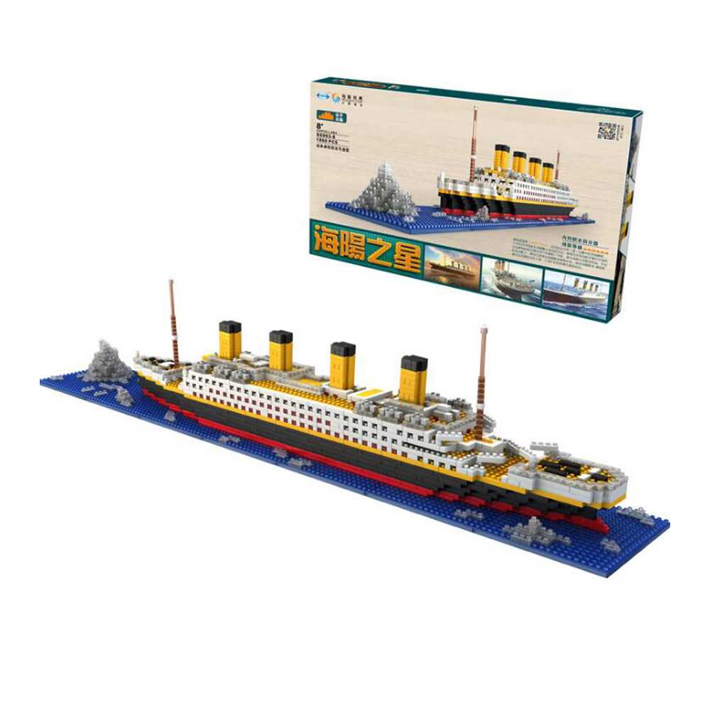 Titanic Blocks Diamond Building Blocks DIY Assemblage Model Mini Bricks Romantic Present Gift for Children