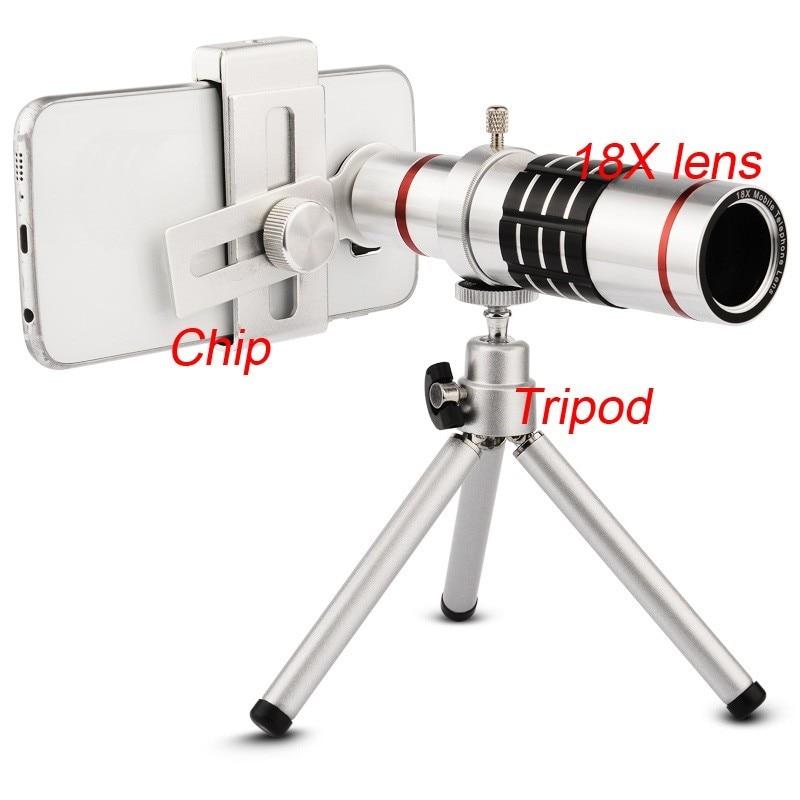Universal18X Lente para camera de celular Lens PhoneTelescope phonecamera lens Telephoto Lens for iPhone Telescope