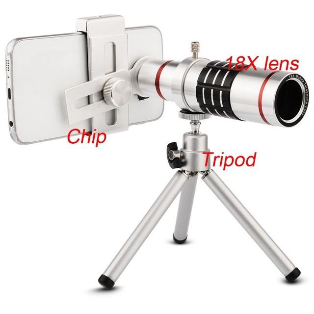Universal18x lente párr lente cámara de celular phonetelescope phonecamera lente telefoto teleobjetivo para iphone lente óptica del telescopio