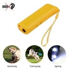 Ultrasonic Pet Dog Repeller Anti Barking Stop Bark Training Control Device Trainer LED 3 in 1 Stop Bark Deterrents Trainer