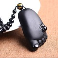 Drop Shipping Natural Jade Pendant Little Feet Craving Big Stone Necklace Pendant Mens Jewelry