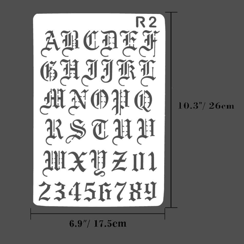 Special English Letters Stencils for DIY Scrapbooking Plastic Handmade Cake  Template Crafts Diary Decor Painting Spray Tool Card