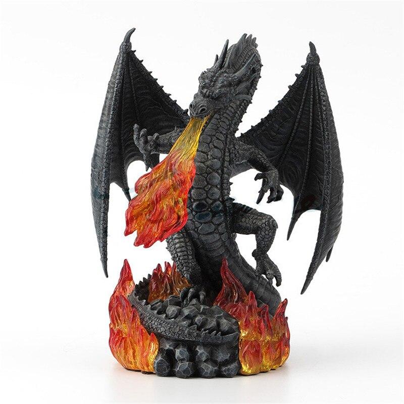 Nouveau Hot Charizard Sculpture Figurine décoration de la maison accessoires pour salon collectionneurs Dragon Statue cadeau de noël R594