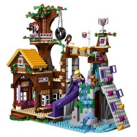 739Pcs BELA 10497 Girl Friends Adventure Camp Tree House Figure Blocks Construction Building Bricks Toys For