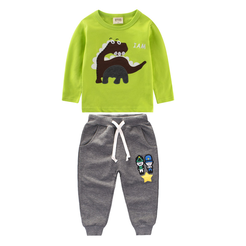 Kids suit dinosaur Clothes for boy girls sets girls clothes set clothing for children Tracksuit for girl Children's clothing футболка для мальчиков children boy clothes camisa 100% vetement garcon enfant girls tee shirts