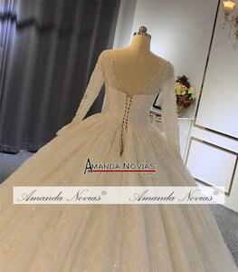 Image 2 - 2019 robe de soiree düğün elbisesi amanda novias Shinning Modeli Yeni