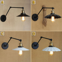Industrial Retro A B Type Simple Retro Black Wall Light Bedroom Wall Lamp Restaurant Wall Lamp