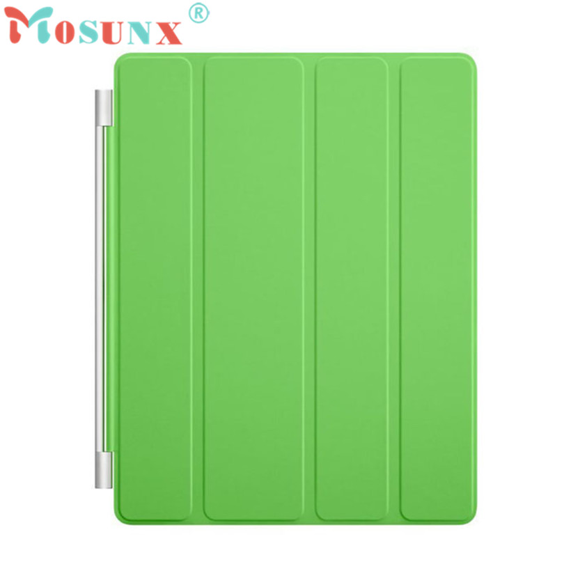 Mosunx Advanced tablet Fashion Ultra Thin Magnetic Leather Smart Cover Case for Apple iPad 2 3 4 Green  1PC  цены