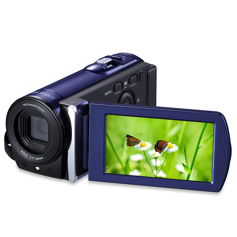 HDV-601S Digital Camera 16X Zoom 1080 Full HD 5MP CMOS Sensor Photo Camera Professional Digital Camcorder Support Smile Capture 5mp cmos digital video camcorder w 16x digital zoom hdmi sd black 3 lcd