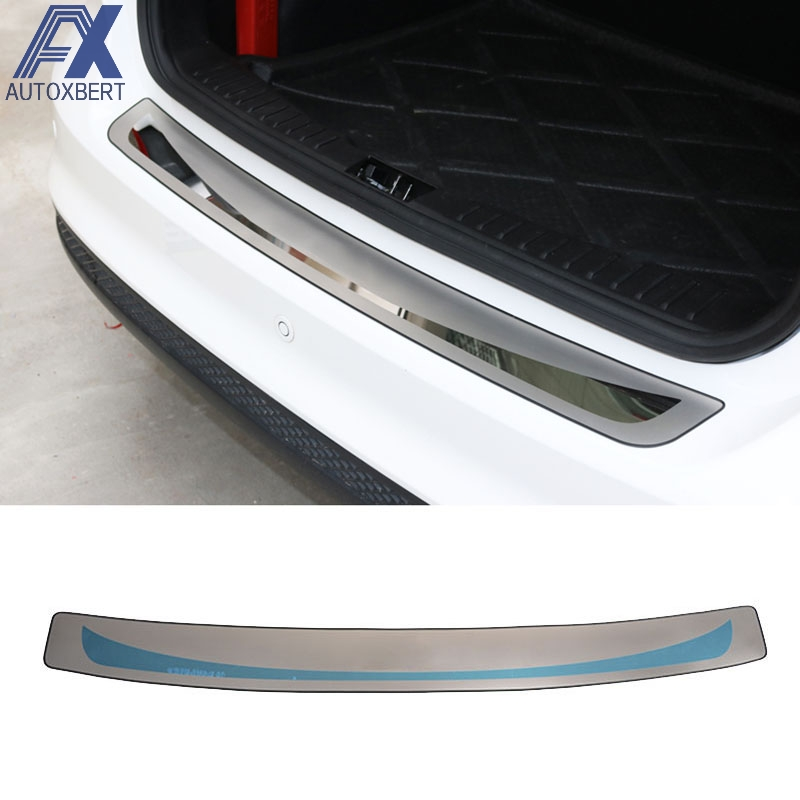 1x Rear Bumper Sill//Protector Plate Steel cover trim for Ford focus 2012-2013