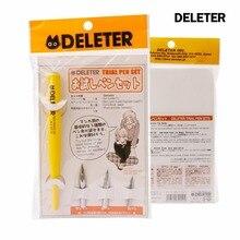 [DELETER] 620 Serie Dip Penna di Legno Fumetti Penna 1 Holder 3 Pennino Penna Stilografica Set Made in Japan Top Brand