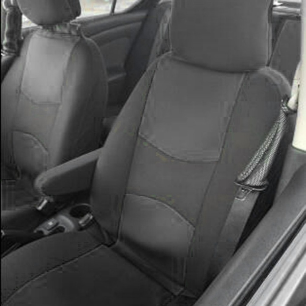 4Pcs Car Seat Covers Auto Interior Polyester 3MM Composite Sponge Universal Fit Car Styling Seat Cover Car Interior Accessories(China)