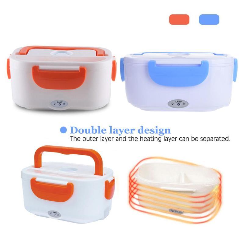 220 V AC Portatile Elettrico Riscaldato Lunch Food-grade Cibo Container Set Scaldabiberon Bento Con Per i bambini della Scuola Box Spina di UE 40 W