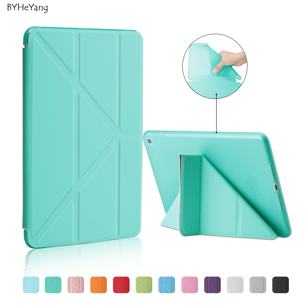BYHeYang For iPad mini 4 Case TPU Back Cover Case for Apple iPad mini 4 Tablet PU Leather Smart Cover Cases Auto Sleep Wake cover case for apple ipad mini 1 2 3 tpu silicone back cover for ipad mini 4 flip stand protect tablet case capa para film pen