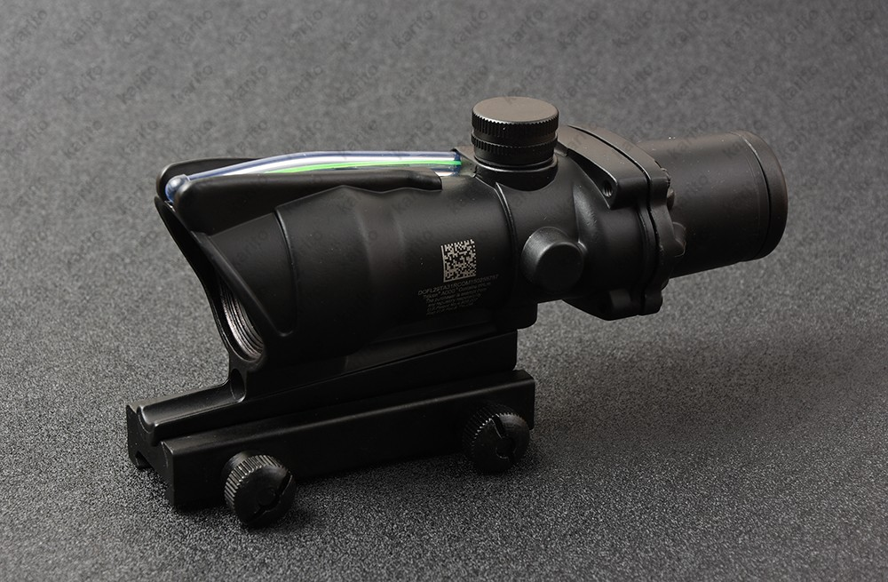 Tactical Trijicon ACOG style green Fiber Optics 4x32 Rifle Scope waterproof for hunting shooting M7184