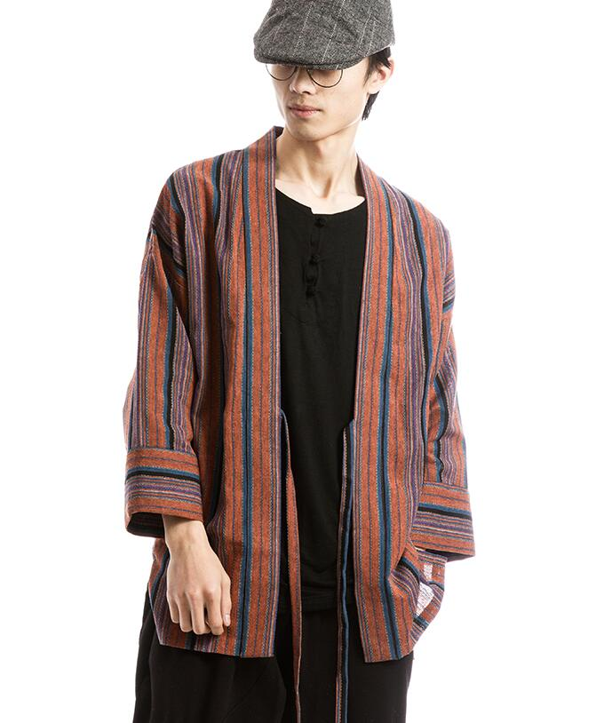 2018 summer retro style robe kimono japanese style wind cardigan men s  improved chinese clothing tang suit plus fat yards ee246fdd2