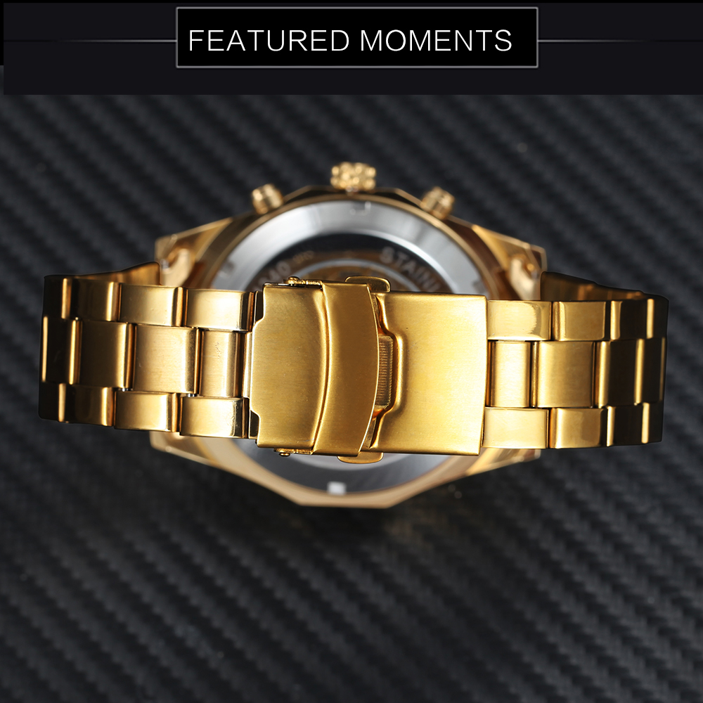 Winner Watch Men Skeleton Automatic Mechanical Watch Gold Skeleton Vintage Man Watch Mens FORSINING Watch Top Brand Luxury 19