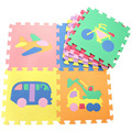 9pcs 30*30cm EVA Foam Puzzle Mat for Children Waterproof Foam Flooring kids Carpet Indoor Cartoon Traffic Mat
