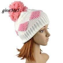 Hot Sale Winter Knitting Beanie Hat Cap Women s Diamond Grid Pattern Hat Fashion Beanie Crochet