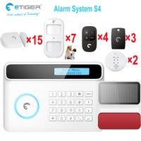 RFID тегов и Android App управления умный GSM домашняя сигнализация система с ЖК-дисплеем  alarme домашней безопасности испанское меню
