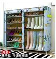 Simple multi-layer assembled folding storage Cabinets cloth shoe racks