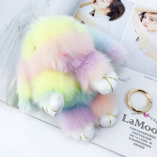 New artificial imitation hair color bunny doll pendant bag car children plush toys Small Gifts