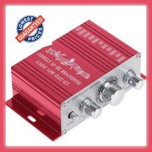 Mini amplificador automotivo 12v, novo amplificador de áudio estéreo para carro e motocicleta, 2 canais, digital, hi fi, suporte de cd entrada de dvd mp3