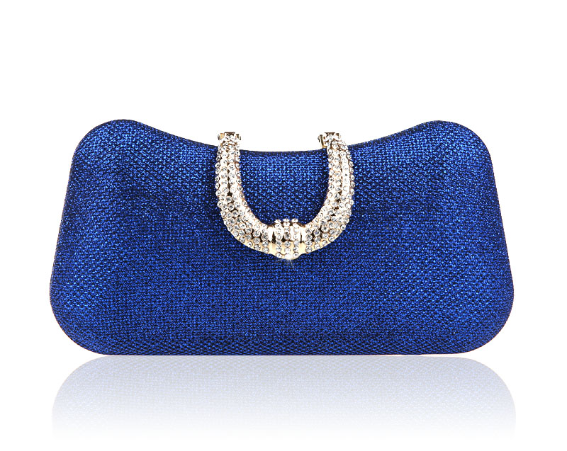 2016 New Design Blue Lady Banquet Handbag Clutch Party Bridal Evening Bag  Women with Shoulder Chain Makeup Bag Mujer Bolso 1022B-in Top-Handle Bags  from ... 1a9377bd04