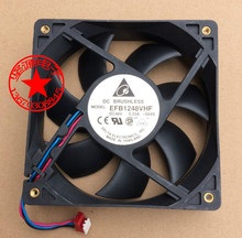 Free Shipping For DELTA EFB1248VHF, -S64S DC 48V 0.33A, 120X120X32mm 80mm 3-wire 3-pin Server Square fan