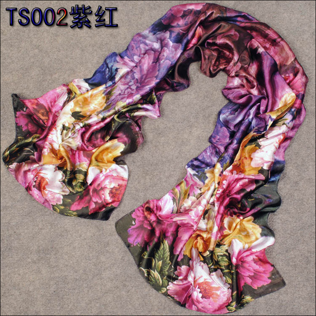 freeshipping Scarf female peones faux silk cape spring and summer autumn air conditioning Scarves, beach towels, scarves