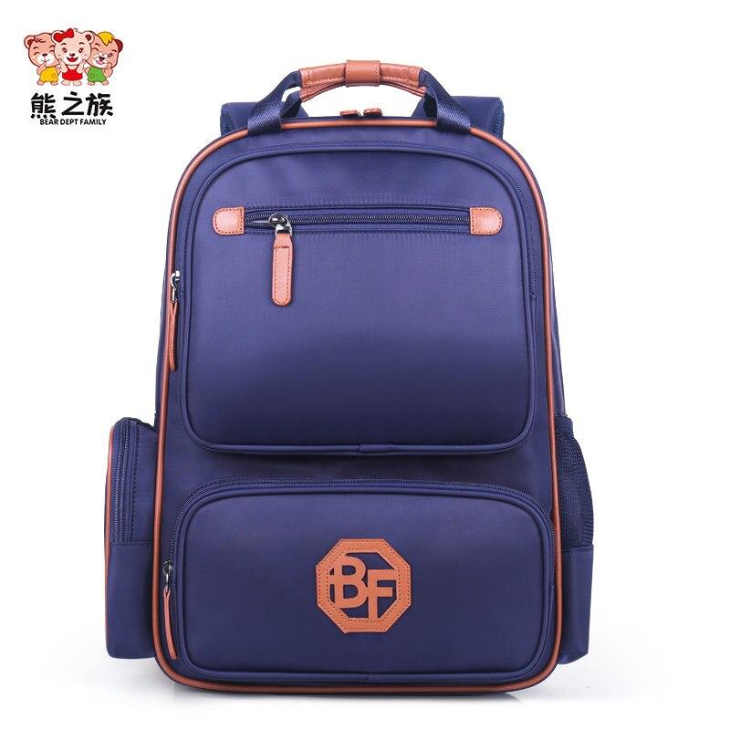 BEAR DEPT FAMILY Children Orthopedic Backpacks Schoolbags Girls Boys Bagpack for Primary Kindergarten Teen Blue Backbag S M L