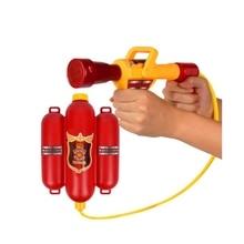 GEEK KING Children Fireman Backpack Nozzle Water Gun Beach Outdoor Toy Extinguisher Soaker Summer