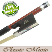 Parisian eye Frog, Fine Brazil wood Violin Bow (sizes 1/8 – 4/4), Good Strength.  Hot Sell! Mongolian Horse Hair