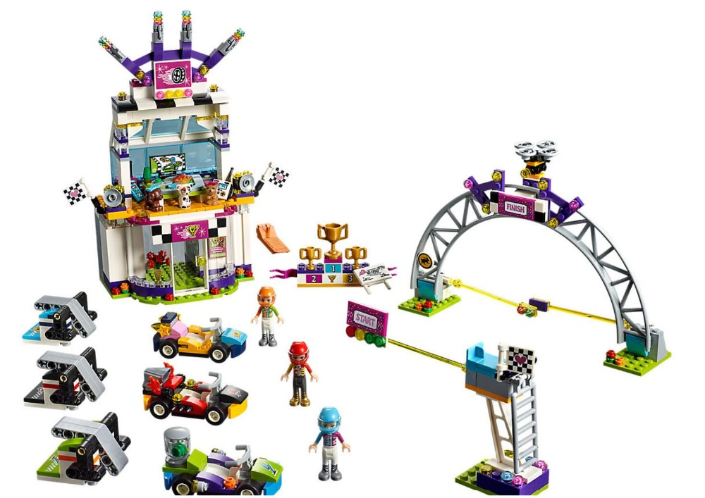 725Pcs Girls Friends Series The Big Race Day Birthday Building Blocks Bricks Compatible With Legoings Friends 41352 race day grub