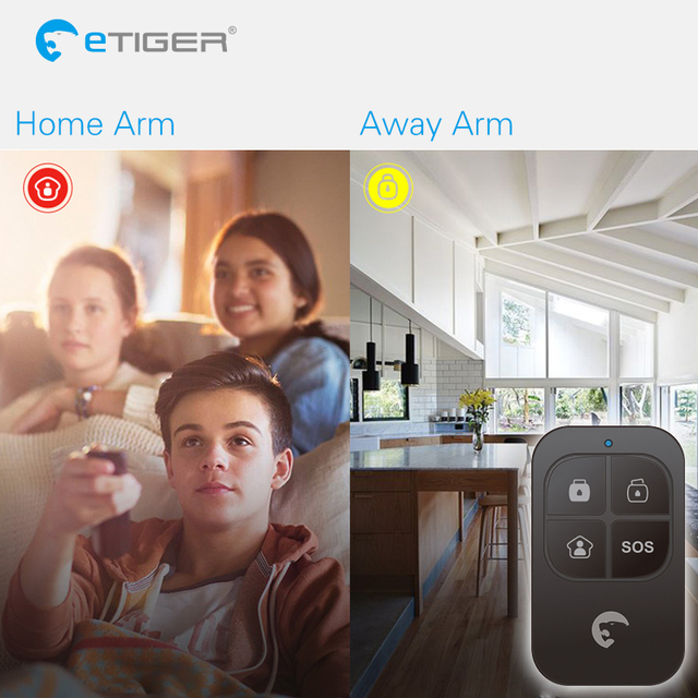eTIGER ES-RC1 433 MHZ Wireless High-performance Remote Contro is compatible with every eTIGER Secual system Home Security