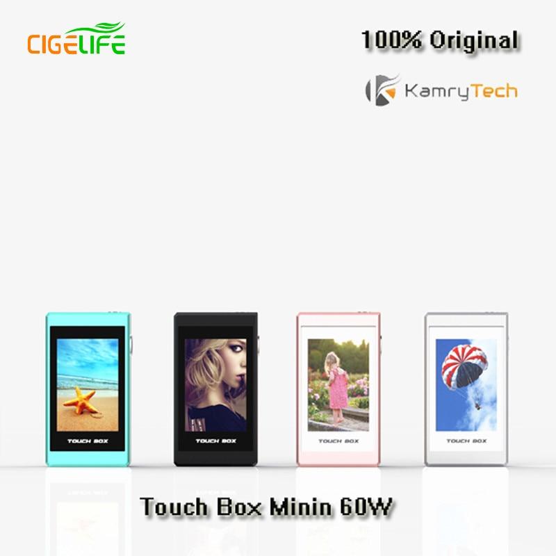 ФОТО 5pcs/lot 100% Original Kamry Touch Mod Box Smart Electronic Cigarette Kit 60W TC Box Mod Vape e-cigarettes 18650 e cigarette