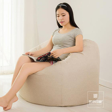 Pure Color BeanBag Chair Garden Camping Bean bag cover Lazy Sofa Anywhere Portable Sitting Cushion