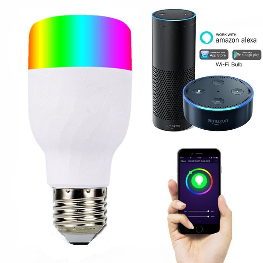 Have An Inquiring Mind Wifi Smart Led Bulb Light Dimmable E27 B22 E26 7w Rgbw 16+million Colours Led Bulb With Amazon Alexa And Google Home No Hub