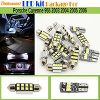 Buildreamen2 23 x Car 2835 SMD LED Bulb Canbus LED Kit Package Dome Courtesy Luggage Light For Porsche Cayenne 955 2003 2006