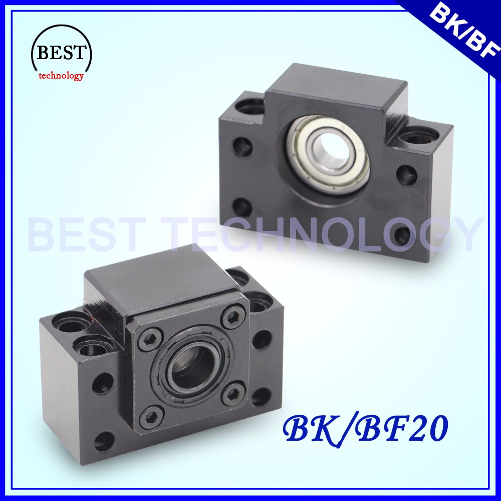 BK 20 & BF 20 Ball Screw End Machine Support BK20 & BK20 For Ball Screw SFU2505 / SFU2510