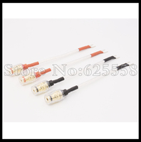 4pcs 15cm OFC Silver Plated Jump Cable With Y Spade To Binding Post For Audio Speaker